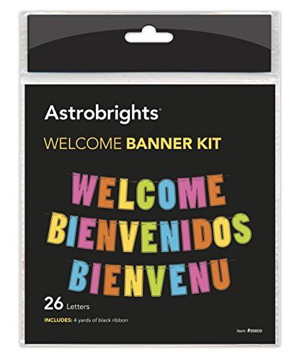 Astrobrights Classroom Decor Trilingual ''Welcome'' Banner -