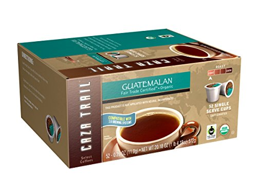 Caza Trail Coffee, Organic Guatemalan, 52 Single Serve Cups