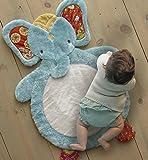 Levtex Home Baby Zahara Elephant Playmat, White/Aqua