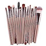 15Pcs Makeup Brushes Eyebrow Blusher Lip Powder Foundation Eyeliner Cosmetic Brush JK