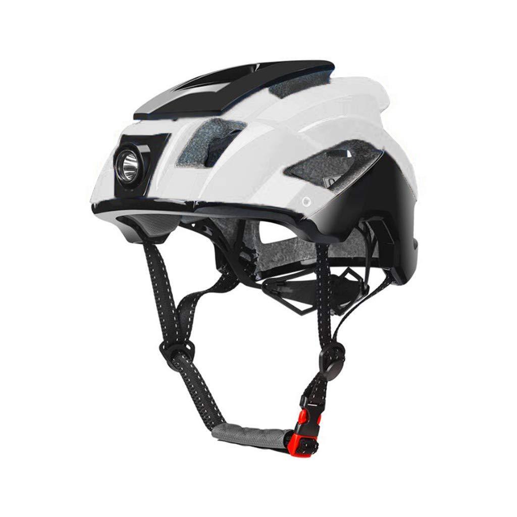 週間売れ筋 ヘルメット - サイクルヘルメット B07PVDQCZZ、ロードマウンテンバイクヘルメット調節可能軽量大人用ヘルメットバイク安全キャップ - ヘッドライト 白 B07PVDQCZZ 白 白, icon contempo:cb0690cb --- a0267596.xsph.ru