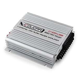 Cougar C400-4 Etapa Potencia coche 4 canales USB-MP3 1200W