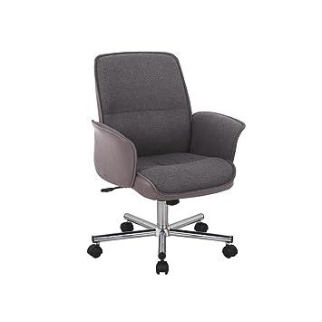 justhome chaise / fauteuil de bureau hercules gris (h x l x p): 93 ... - Chaise De Bureau Grise