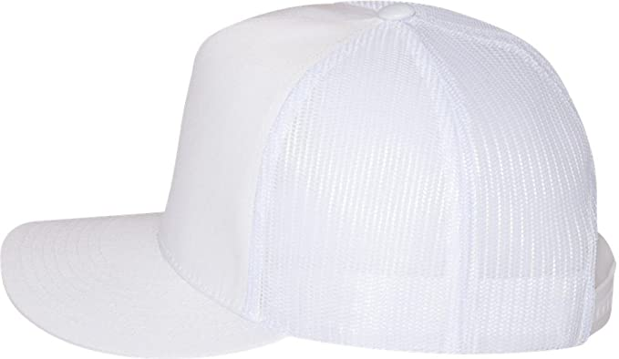 065a0769c41f9 Image Unavailable. Image not available for. Color  Yupoong Five-Panel  Classic Trucker Cap. 6006 - White