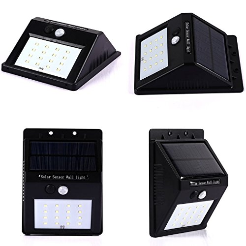 Patio Lights Wireless: 16LED Solar Lights, ZEEFO Outdoor Waterproof Wireless