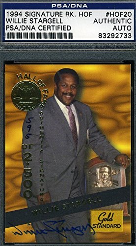 (WILLIE STARGELL AUTOGRAPH PSA/DNA CERTIFIED 1994 SIGNATURE AUTHENTIC SIGNED)