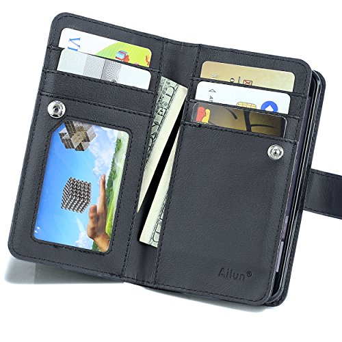Leather Magnetic Detachable Multiple Compartment