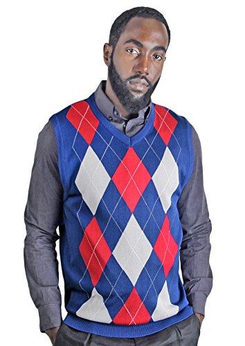Blue Ocean Argyle Sweater Vest-X-Large by Blue Ocean
