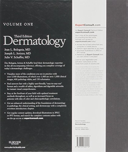 Dermatology: 2-Volume Set: Expert Consult Premium Edition - Enhanced Online Features and Print, 3e (Bolognia, Dermatology)
