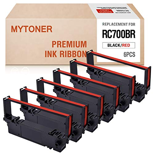 Mytoner Compatible with Ribbon Cartridge Replacement for Star RC700BR RC-700BR SP700 SP-700 SP712 SP 712 MD SP742 POS Printer Ribbon(Black Red, -