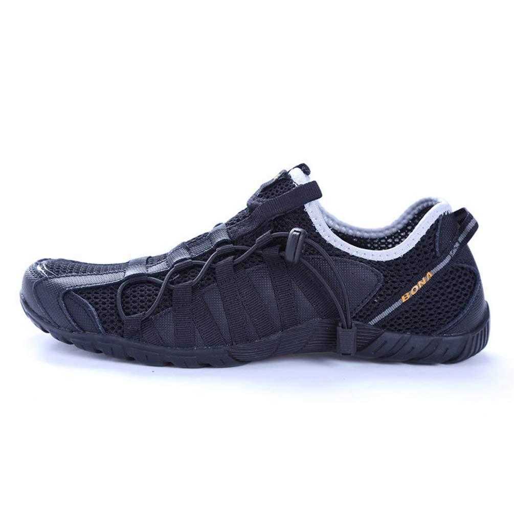 ZHRUI Herren Laufschuhe Laufschuhe Laufschuhe Schnüren Sportschuhe Outdoor Walkng Rütteln (Farbe   Schwarz, Größe   4.5=38 EU) 1dbdde