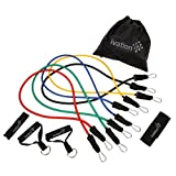 Ivation Resistance Band Set Detachable Foam Grip Handles, Door Anchor, Ankle Straps, Starter Guide & Carrying Case Included For Sale