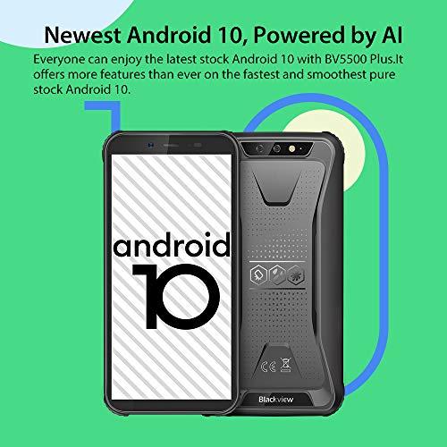 Téléphone Incassable, Blackview® BV5500 Plus Android 10 Smartphone Débloqué 4G avec Écran 5.5 Pouces, 3Go+32Go (SD 128Go… 2