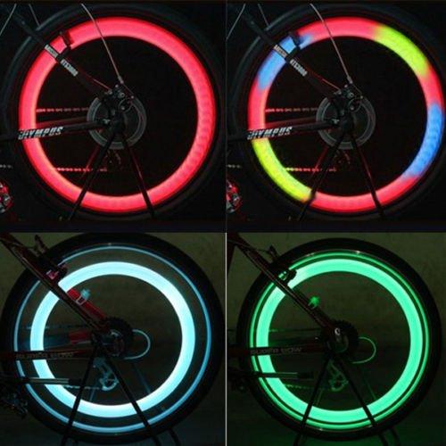 4x Colors Set Bike Bicycle Cycling Car Wheel Spoke Tire Wire Tyre LED Light Lamp by Sawan Shop