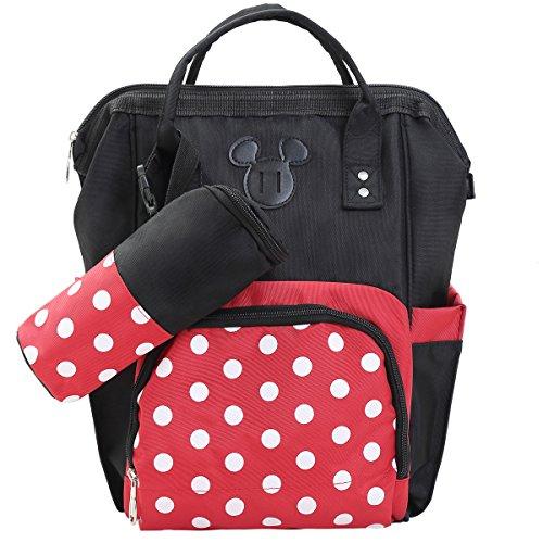 Baby Diaper Bag Backpack Unisex Nappy Backpack Multifunction Polka Dots Traveling Bag Pack