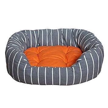 Rosewood 40 Winks, Cama para Mascotas, Color Gris Rayas/Mandarina P.: Amazon.es: Productos para mascotas
