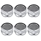 #6: 6PCS Faucet Aerators, Male Threaded Brass Aerator With Faucet Replacement Part for Bathroom Kitchen