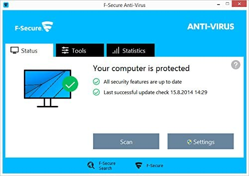 F-SECURE Anti-Virus 2016 1U UPG - Seguridad y antivirus (Pentium 4, Windows 7 Enterprise, Windows 8, Windows Vista Home Premium, Windows 10 Education, Windows 7 Enterpr, Mac OS X 10.7 Lion, Mac