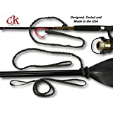 Paddle Leash with a 2 Rod Leash Set, 3 Leashes Total Plus 1 Carabiner. Built to Last, Made in the USA.