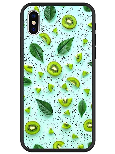 LuGeKe Kiwi Fruit Print Phone Cases Cover with Cool Summer Green Leaf Design Protector Bumper Scratch Resistant Phone Case for iPhone XR