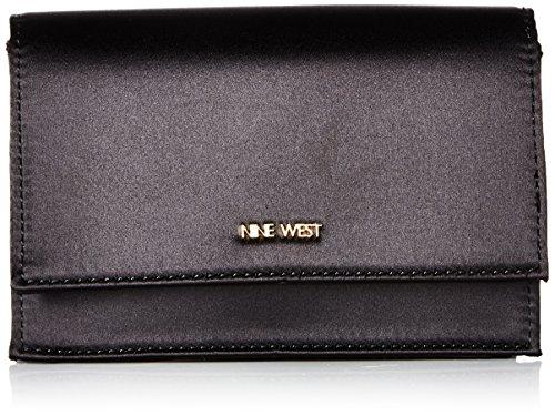 (Nine West Mini Anndi Convertible Clutch Crossbody, Black)