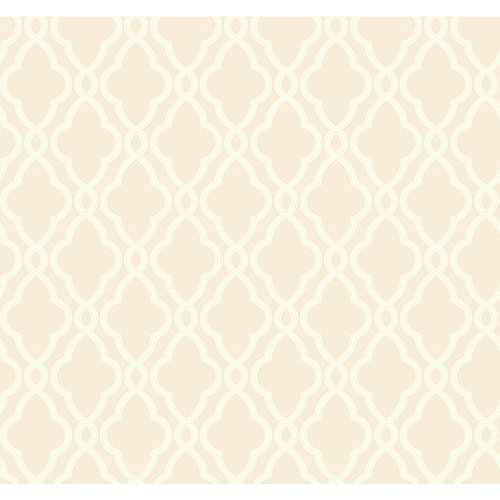 Classic Wallpaper - York Wallcoverings Waverly Classics Hampton Trellis Removable Wallpaper, Beige/Ecru
