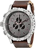 Nixon Men's A1242064 51-30 Chrono Leather Analog Display Analog Quartz Brown Watch
