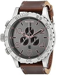 Nixon Men's A1242064 51-30 Chrono Leather Analog Display Analog Quartz Brown Watch