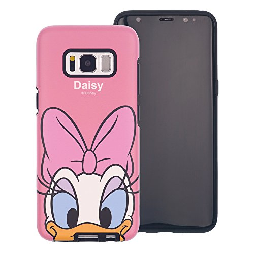 Funda Galaxy S8 [Protección híbrida contra caídas] DISNEY Minnie Mouse Linda Doble Capa Hybrid Carcasas [TPU + PC] Parachoques Cubierta para [ Samsung Galaxy S8 ] - Minnie Mouse Idea Daisy Duck Look (Galaxy S8)
