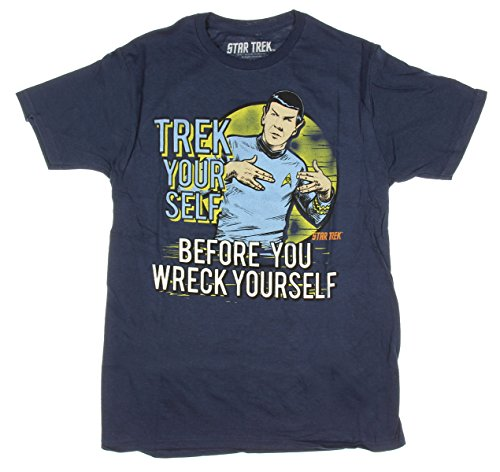 Star Trek Spock Trek Your Self Before You Wreck Yourself Graphic T-Shirt - Medium