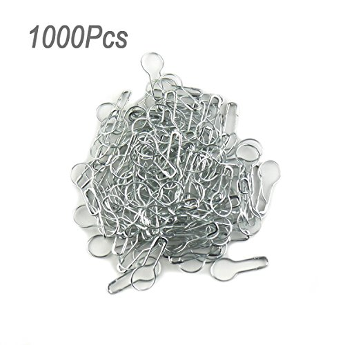 lieomo 1000pcs 0.85 Inch Coilless Tone Gourd Bulb Pear-shaped Safety Pins For Hanging Tags-Silver