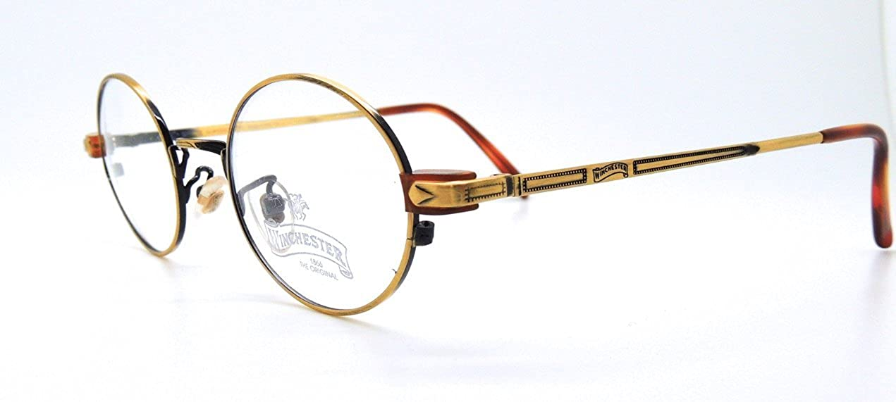 a824f6ac03bb Oval Gold Italian Winchester Glasses Frames Old Style 7a Y 11   Amazon.co.uk  Clothing