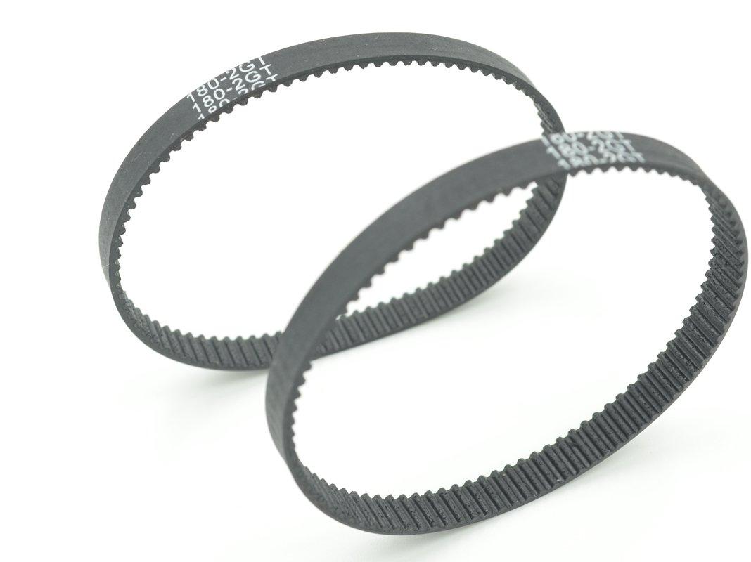 POWGE GT2 Timing Belt L=180mm W=6mm 90 Teeth Color Black Pack in Closed Loop Of 10pcs Ningbo Jiangbei Powge Transmission Component Co. Ltd