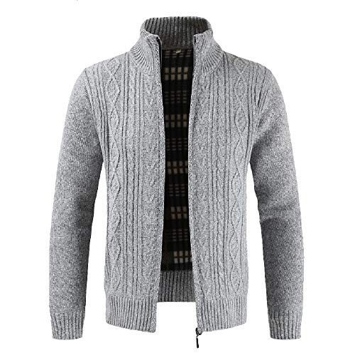 Fashion Men's Autumn Winter Casaul Zipper Jacket Knit