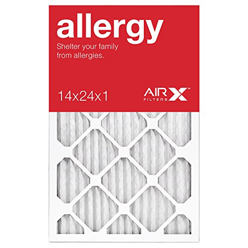 AiRx ALLERGY 14x24x1 Air Filters - Best for Allergy Protection - Box of 6 - Pleated 14x24x1 MERV 11 Air Filters, AC Filters, Furnace Filter - Energy Efficient