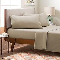 LINENSPA Brushed Microfiber Ultra Soft Bed Sheet Set - Wrinkle Resistant - Full Size - Sand