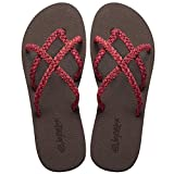 Everelax Women's Flip Flops Sandal 8 B(M) US, Cherry Red