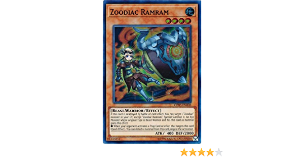 Super Rare OP05-EN008 Zoodiac Ramram