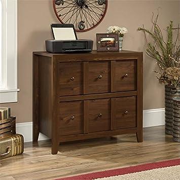 sauder dakota pass 2 drawer file cabinet tv stand in rum walnut