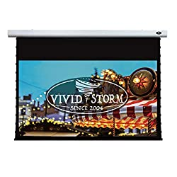 Vividstorm 4k 3d Uhd Mortar Mount Tab Tensioned Screen Electric Drop Down Projector Screen 120 Inch Diagonal 16 9 With White V Cinema Pvc Wireless 12v Projector Trigger Model Vxzlw120h