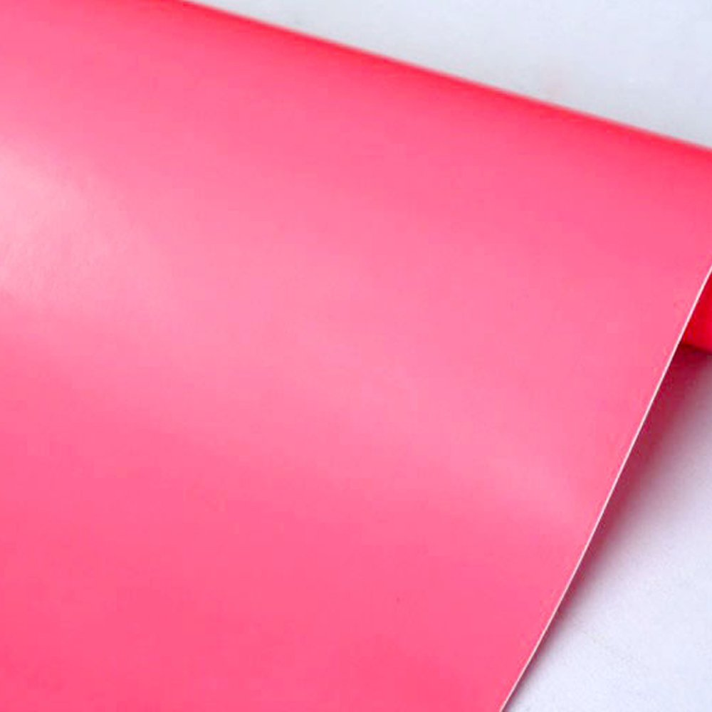 SimpleLife4U Pink Girl Self-Adhesive Shelf Liner Solid Color Contact Paper Refurbish Dresser Drawers Beauty Case 17.7 Inch By 9.8 Feet