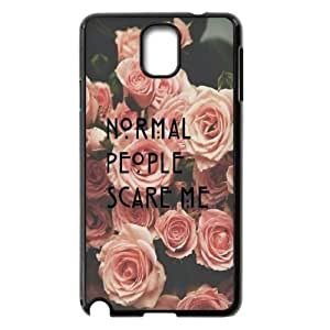 Normal people scare me High Qulity Customized Cell Phone Case for Samsung Galaxy Note 3 N9000, Normal people scare me Galaxy Note 3 N9000 Cover Case