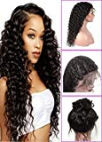 Brazilian Deep Wave Lace Front Wigs for Black Women 130% Density 100% Unprocessed Virgin Human Hair Wig Pre Plucked Natural with Baby Hair 26 inch Lace Front Wig