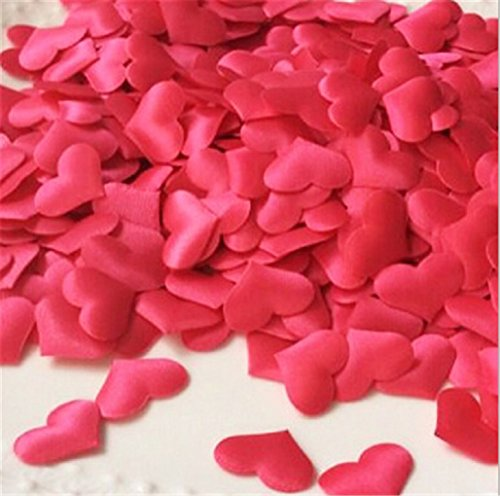 (Satin Hearts for Wedding Table Decorations-valentine Day-500 Pcs (Red))