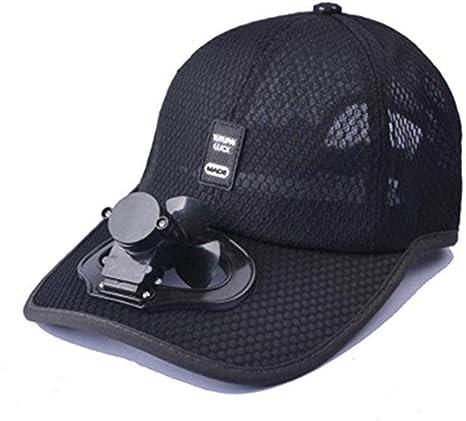 Sombrero unisex del ventilador de la carga USB de la tapa, gorra exterior del sombrero del