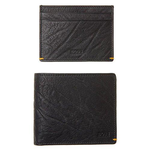 Boss Orange Wallet And Card Holder Mens Gift Set Black