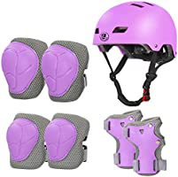 LANOVAGEAR Kids Helmet Knee Pads Ages 2-8, Adjustable Toddler Bike Helmet Knee Elbow Wrist Pads for Skating Scooter...