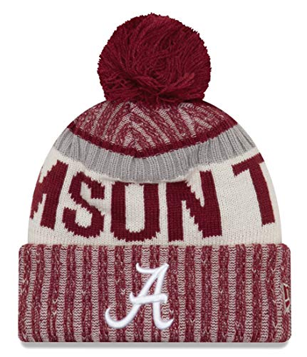 New Era Alabama Crimson Tide Onfield Sport Pom Knit Beanie Hat/Cap (Alabama Beanie Hat)