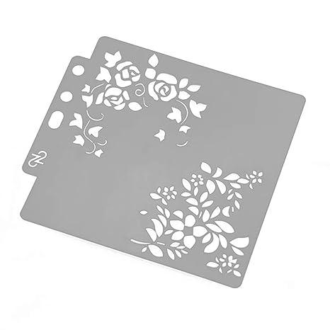 Plantillas de flores para pintar álbumes de recortes en relieve, tarjeta de álbum de estampado