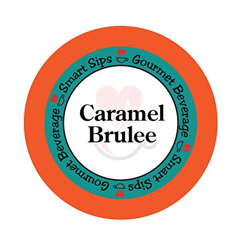 Smart Sips, Caramel Brulee Flavored Coffee, 24 Count, Compatible With All Keurig K Cup Brewers